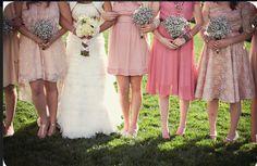 love the bridesmaid flowers!