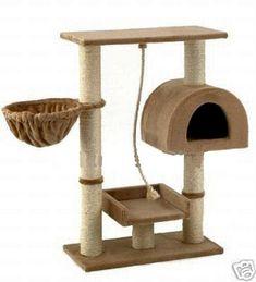 "GoPetClub Cat Tree Furniture Beige 36"" (F16)"