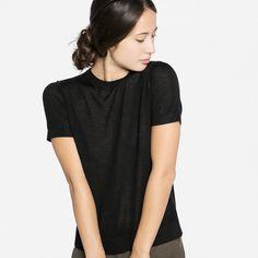 The Short Sleeve Luxe Wool - Black – Everlane