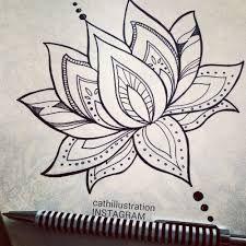 Image result for lotus flower dessin mandala