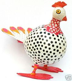 Large Artisan Papier mache HEN/CHICKEN SCULPTURE Figure on eBay!