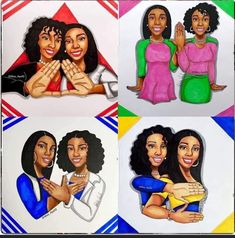 Aka Sorority, Sorority And Fraternity, Sorority Life, Sorority Sisters, Alpha Kappa Alpha Sorority, Zeta Phi Beta, Delta Sigma Theta, Dope Cartoon Art, Delta Girl