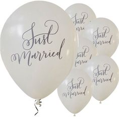 Boho Wedding Just Married Balloons - Latex - Wedding Balloons (Pack of Boho Wedding, Floral Wedding, Wedding Reception, Wedding Venues, Wedding Day, Luggage Tags Wedding, Wedding Tissues, Wedding Wands, Wedding Photo Booth Props