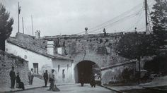 1906-AVENIDA  DE  GUIPUZCUA-Parte interna del portal  Nuevo-murallas-
