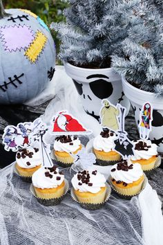 No party is complete without cupcakes! Put a Halloween Town spin on your tasty treats with these free, printable The Nightmare Before Christmas cupcake toppers.