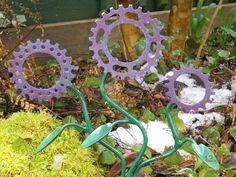 Bicycle sproket flowers