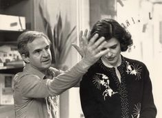 François Truffaut directing Fanny Ardant on the set of Vivement dimanche | ph : William Karel