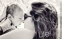 Baby Gabe and his mama