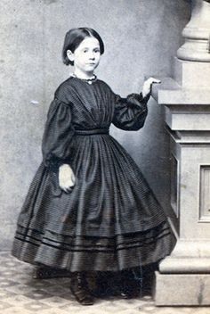 THE Little Girl Holding UP A Pillar Great CIVIL WAR Children Dress | eBay