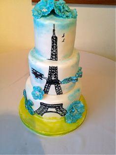Eiffel Tower Sweet 16 Birthday Cake created by Sweet T's cake design located in Ellenton, Florida