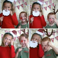 Photo Booth for Christmas Parties - Easy props and decor