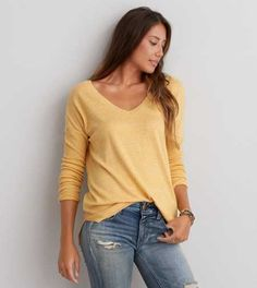 AEO V-Neck Pullover Sweater - Buy One Get One 50% Off