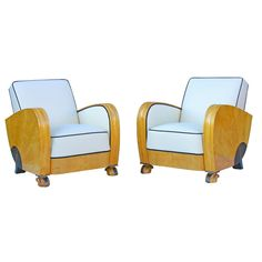 Swedish Streamline Moderne armchairs from the 1930s