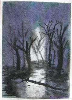 Watercolour - GHOSTLY FORREST
