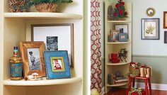 Turn empty corners into display space. Make this corner shelf in minutes from doors and a 36-inch round board. Then paint it to complement y...