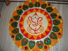happy diwali, deepawali rangoli design, shri ganesh rangoli, best rangoli design, best rangoli for diwali 2013