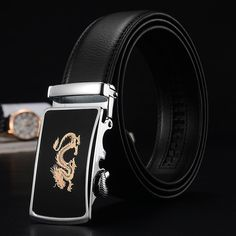 Automatic Men Black High Quality Genuine Leather Mans Luxury Brand Designer Mens Fashion 2017 cinto homme mc waist belt male