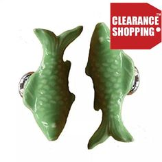 #manythings.online Description #This small goldfish ceramic knob can have a magical effect in decorating a room. Suitable for the door of the drawer, cabinet, cu...