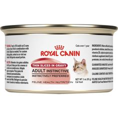 ROYAL CANIN FELINE HEALTH NUTRITION Adult Instinctive thin slices in gravy canned cat food, 3-Ounces, 24-Pack *** More info could be found at the image url.