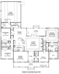 House Plan 3027-B Brookgreen B main floor.  Floor plan only.  Exterior is a definite NO!