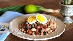 FASULYE PiYAZ TARiFi NASIL YAPILIR meze salata yemek tarifleri - YouTube
