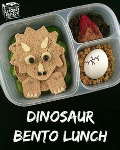Un creativo desayuno para los pequeñitos que aman a los dinosaurios