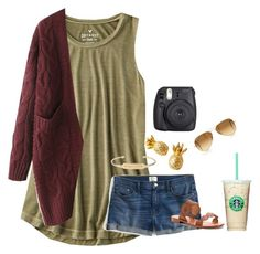 """""""I'm so bored!! Comment what I could doooooo!"""" by pandapeeper ❤ liked on Polyvore featuring American Eagle Outfitters, WithChic, J.Crew, Lilly Pulitzer, Jack Rogers, Stella & Dot, Fuji and Ray-Ban"""
