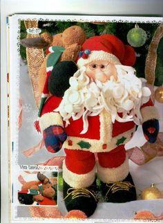 Moldes do boneco de Papai Noel e rena ...