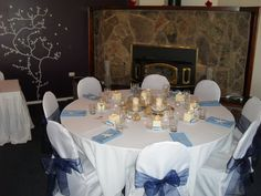 blue and white wedding ideas | Beach wedding style- I don't think i will get to do a beach wedding ...