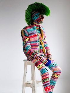 Leigh Bowery influence in today's art and fashion scene is undeniable. Here's a pic from London's menswear brand Sibling inspired by Leigh's style.