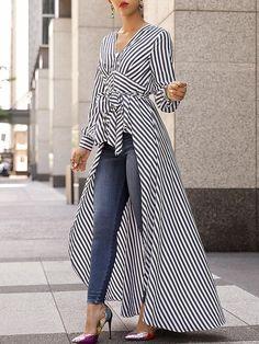 'Waves' asymmetrical blouse