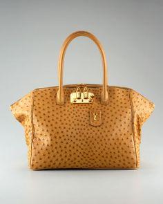 VBH Brera Ostrich Handbag Exotic Leather- Ostrich Skin