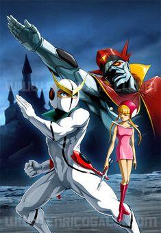 Kyashan Casshern Dvd 1 by EnricoGalli on DeviantArt Old School Cartoons, Old Cartoons, Anime Toon, Manga Anime, Game Character, Character Design, Battle Of The Planets, Robot Cartoon, Japanese Cartoon