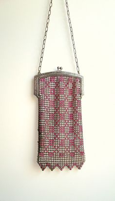 1920's Flapper Mesh and Metal Whiting & Davis Purse.