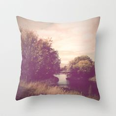 Landscape Throw Pillow by Field and Sea - $20.00