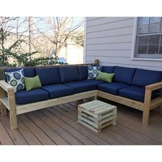 Amazing Outdoor Sectional Diy 2x4 Stained Wood Simple Nice Cushions