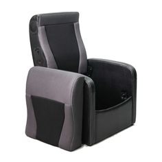GAMING CHAIR/OTTOMAN  With Express 2.0 Speaker System      Ottoman folds out to a gaming chair     Express 2.0 speaker system     Storage under the seat cushion     Plug in adapter     Side control panel with power/volume dial     Input/output and headphone jacks  Product dimensions:                    24.8in W x 27.2in D x 35.0in H 63.0cm W x 69.0cm D x 89.0cm H- Available at Toys R Us