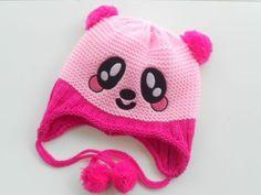 Newborn Unisex Baby Knitted Crochet Baby Hat Lovely Panda hat Cap
