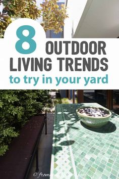 I really want to make my backyard into an inviting outdoor garden room, so these outdoor living trends are coming in at the perfect time. You gotta read these if you need awesome outdoor patio ideas. I'm definitely PINNING this! | Home Decor Trends