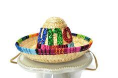 UNO SOMBRERO HAT Birthday Party Mini Sombrero Cinco De Mayo Fiesta ... a769c7effc54