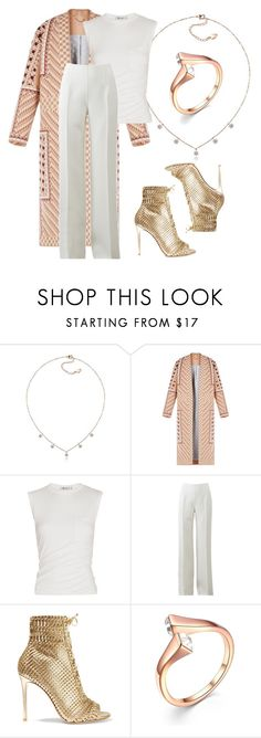 """""""Pink&White"""" by evermarkerofficial on Polyvore featuring BCBGMAXAZRIA, Alexander Wang, Michael Kors, Gianvito Rossi, Pink, springfashion and spring2016"""