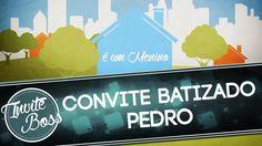 Convite Animado Personalizado Batizado (Sombra) - Pedro
