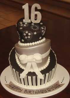 1000 Images About Black Silver Gold Cake On Pinterest