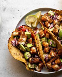 Vegan Mexican Recipes, Vegan Recipes, Ethnic Recipes, Vegan Snacks, Vegan Dinners, Organic Recipes, Veggie Tacos, Vegetarian Tacos, Best Lunch Recipes