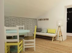 Fundação do Gil #final #render #imagemvirtual #3D #office #upcycled #decor #interiors #interiordesign #details #remodelação #fundaçãodogil #solidariedade #crianças #child #furniture #design #arquitetura #interiores #homestoriespt #umaobraumahistória