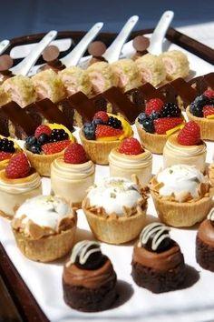 beautiful mini desserts..