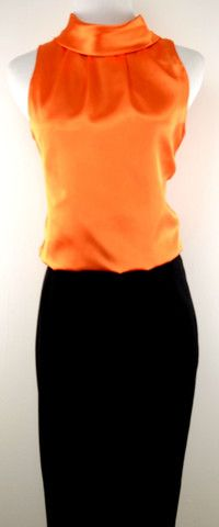 Forever21 Orange Sleeveless Blouse Size  would match my brown platforms!