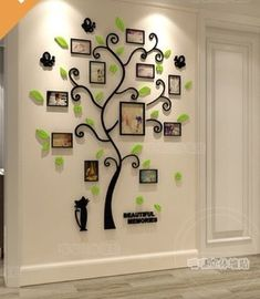 Family Tree Vinyl Decal Design Ideas For 2019 Family Tree Wall Sticker, Tree House Plans, Picture Frame Decor, 3d Mirror Wall Stickers, Living Room Background, Tree Decals, Pvc Wall, Crystal Wall, Tree Shapes