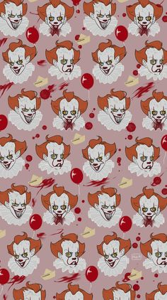 Nursery wallpaper (animated he looks almost exactly like the clown in the Brave Little Toaster)