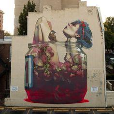 """Moonshine"" Mural by #ETAM in Richmond, VA, United States 2013 #streetart #graffiti #streetartfiles"
